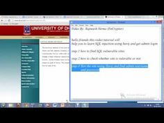 Hacking In A Better Way   Learn Hacking through watching video tutorials. This also include security and pentesting videos tutorials.