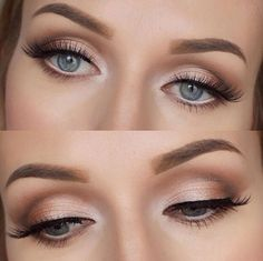 Soft Natural Glam - Eye Makeup #hoodedeyemakeup