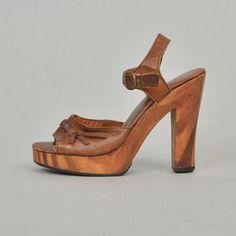 2a3c7121c601 Best Wood Platform Sandals Products on Wanelo Vintage Shoes