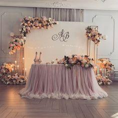 Diy Wedding Backdrop, Simple Wedding Decorations, Engagement Decorations, Stage Decorations, Simple Weddings, Lavender Wedding Theme, Floral Wedding, Wedding Flowers, Wedding Stage