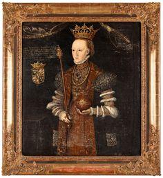 1536 Follower of Johan Baptista van Uther  Queen Margareta Leijonhufvud