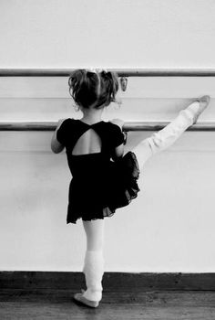 Little girl taking ballet