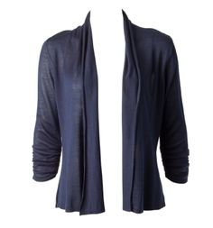 Ricki's ruched sleeve open cardigan