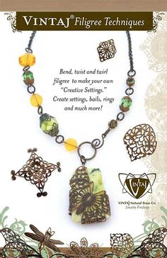 "Bend, twist and twirl filigree to make your own ""Creative Settings."" Create settings, bails, rings and much more!"
