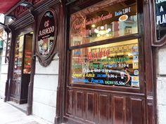 La Casa del Abuelo - C/Victoria, 12 - Madrid Nostalgia, Folklore, Sticker, Antique Bar, Vintage Shops, Old Pictures, Stall Signs, Paths, Decals
