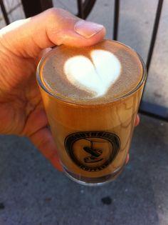 Cortado (Southside Coffee, 6th Ave, Park Slope, Brooklyn, NYC) Brooklyn Coffee, Nyc Coffee, Coffee Love, Coffee Break, Coffee Shop, Park Slope Brooklyn, Brooklyn Nyc, Espresso Cafe, Latte Art