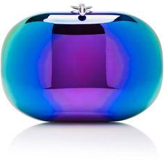 Jeffrey Levinson Elina Mirrored Rainbow Spectrum Clutch ($1,550) ❤ liked on Polyvore featuring bags, handbags, clutches, purple purse, evening handbags, cocktail purse, mirror purse and purple handbags