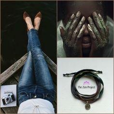 """Ohm"" silk wrap bracelet * Design by The Zen project"