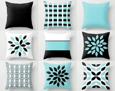Blue Throw Pillows, Blue Pillows, Navy Blue Decorative Pillow Covers,  Chevron Throw Pillows, Cover Only Decorative Pillows | White Pillow Covers,  ...