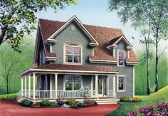 Country Farmhouse House Plan 65147