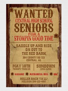 Love this Western themed party wording!  You could try picmonkey.com for similar...