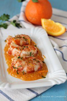 Gamberoni all'arancia Un secondo piatto di pesce semplice e veloce #pesce #ricette #cucina