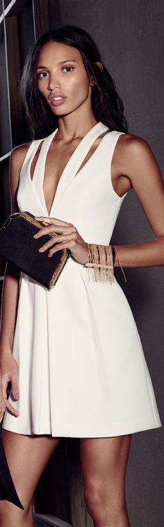 @roressclothes closet ideas #women fashion White Cocktail Dress