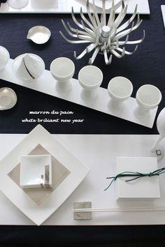 "white briliant new year table 苦楽園 おもてなし料理教室 ""marron du pain"""