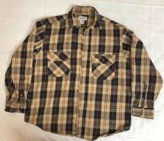 db4b6c0bb73f Vtg Carhartt Shirt Heavy Cotton Flannel Long Sleeve Plaid Beige Black M EUC   fashion  clothing  shoes  accessories  mensclothing  shirts (ebay link)