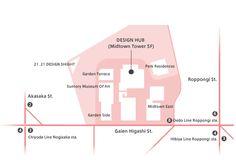 Tokyo Midtown Design Hub ACCESS MAP