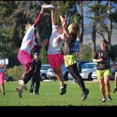 I'm crazy about ultimate frisbee