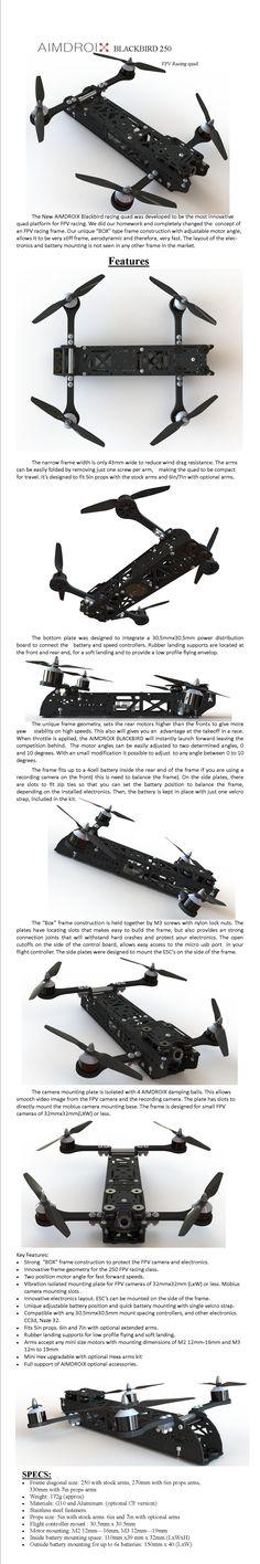 AIMDROIX Blackbird 250 - FPV Racing Mini Quad [AIMDROIX-BB-250] - $69.99 : Ready Made RC LLC, The Leader in All Things FPV, RC, and Beyond