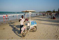 Eiswagen am Strand in Daressalam, Tansania Malawi-Quer durch Afrika- Geschichten von unterwegs by Marion and Daniel