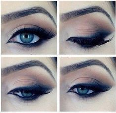 Very nice subtle smokey eye perfect for daytime. If it's still too intense, don't wing out the shadow as much.