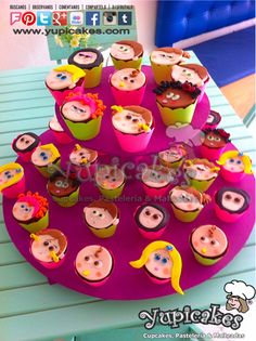 ¡Estos cupcakes de Distroller Neonatos serán la sensación en la fiesta de tus pequeños! ¿Te gustaron? #Cupcakes de #Chocolate con relleno de #Nutella. Diseños 100% personalizados.
