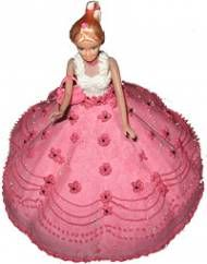 Barbie Shape Cake For Chennai Delivery Assured Fast And Free Home To Visit Our Site Chennaiflowers Flowers Type Cakes