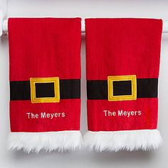 Make your home more festive this Christmas with the Personalized Santa Kitchen Towel Set. Find the best personalized Christmas gifts at PersonalizationMall.com