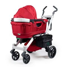 The Orbit Baby bassinet can be swapped with the stroller seat for the first couple of months :)