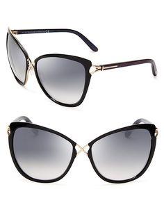 Tom Ford Celia Cat Eye Sunglasses | Bloomingdale's https://twitter.com/faefmgaifnae/status/895102852929945600