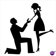 Engagement Proposal Silhouette Marriage Proposal Silhouette - Clipart Suggest Couple Silhouette, Silhouette Cameo Projects, Silhouette Design, Wedding Silhouette, Engagement Cakes, Scan And Cut, Digital Stamps, Journal Cards, Paper Cutting
