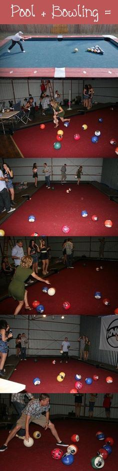 Pool Bowling Fun and have real cool fun. (Minutes To Win It Games Hula Hoop)