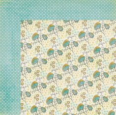 My Mind's Eye - The Sweetest Thing Collection - Bluebell - 12 x 12 Double Sided Paper - Bright Blossom at Scrapbook.com $1.09