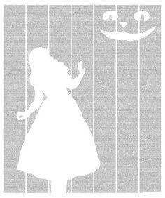 Alice's Adventures In Wonderland poster - Typography Art ($23.99)
