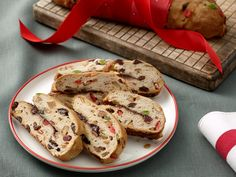 Stollen This traditional German dessert dazzled with candied fruit and nuts can be served plain or topped with powdered sugar or icing. Get the Recipe: Stollen MORE FROM: The Best Christmas Recipes Best Christmas Recipes, Holiday Recipes, Christmas Foods, Christmas Bread, Christmas Baking, Holiday Bread, Christmas Brunch, Christmas Morning, Holiday Baking