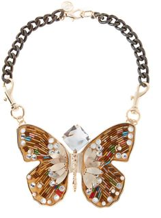 Mango Touch Butterfly Necklace in Gold