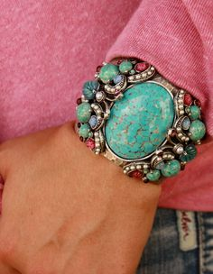 TURQUOISE ::: Love this cuff!