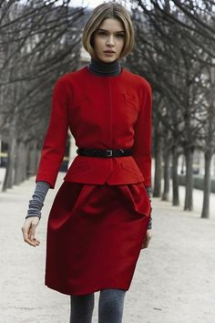 #dior #silhouette #red #color