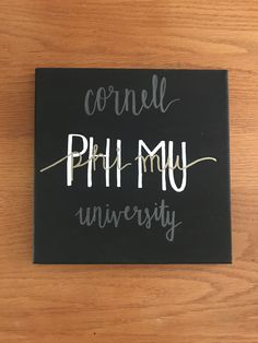 Cornell University Phi Mu Custom Canvas Delta Gamma Canvas, Phi Mu Canvas, Sorority Canvas Paintings, Phi Theta Kappa, Big Little Week, Big Little Reveal, Big Little Gifts, Sorority Paddles, Sorority Gifts