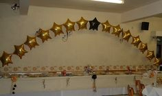 foil balloon arches at Gornal Conservative Club
