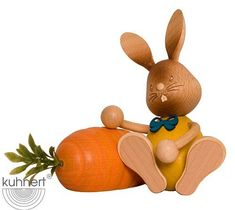 A product from the 'Stupsi Rabbits' edition - The funny and vivid bunny world of Kuhnert embodies the joy and life of spring time! They are a perfect addition to your Easter celebration. Mountain Crafts, German Christmas Ornaments, Beer Mugs, Easter Celebration, Winter Kids, Corporate Gifts, Easter Bunny, Spring Time, Handicraft