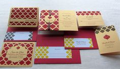 Indian Save the Date Invitation Set   Indian by ImbueYouIDo, $10.20
