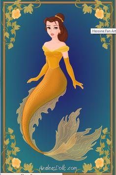 -Belle- Disney Mermaids by ~WolfsGesang on deviantART