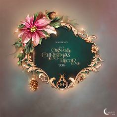Moonbeam's Ornate Christmas Decor : Scrap and Tubes Store, Digital Scrapbooking Supplies