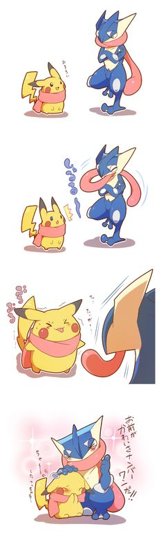 Pikachu & Greninja                                                       …