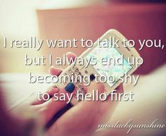 saying hello isn't a great way to start a conversation.....