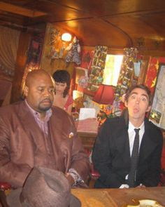 Chi McBride & Lee Pace on set of Pushing Daisies :)
