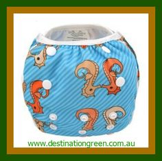Swim Nappy - sea horses NEW, $16.00, one, size fits most, fully adjustable #reusableswimnappy #swimnappy, #swimmingnappy #clothswimnappy