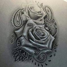 Tattoo Designs Nice Rose Tattoo In Chicano Style - tattoo - Tattoo Tattoo Oma, Chicanas Tattoo, Tattoo Motive, Body Art Tattoos, Sleeve Tattoos, Rose Tattoo Sleeves, Lion Tattoo, Mini Tattoos, Lettrage Chicano
