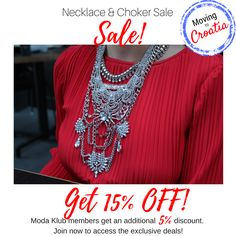 9b185537f42 Moving to Croatia Sale! This weeks sale is on our Necklace & Choker  Collection!