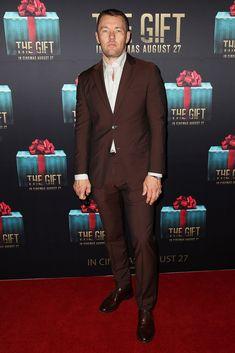 Joel Edgerton llega a la alfombra roja para el estreno de Sydney de la donación.